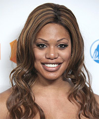 Laverne Cox Long Wavy Casual