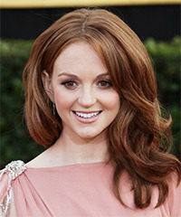 Jayma Mays Long Wavy Formal