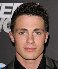 Colton Haynes Hairstyle - click to view hairstyle information