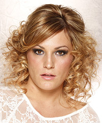 Formal Half Up Long Curly Hairstyle - click to view hairstyle information