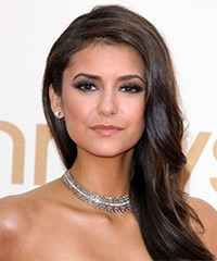Nina Dobrev Long Wavy Formal
