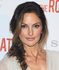 Minka Kelly Half Up Long Curly Casual Braided