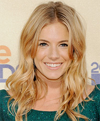 Sienna Miller Long Wavy Casual