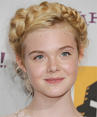 Elle Fanning - Updo Long Braided