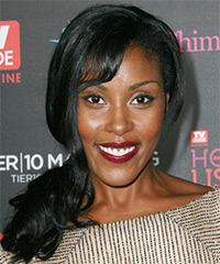 Christine Adams - Half Up Long Curly