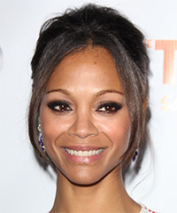Zoe Saldana - Updo Long Straight