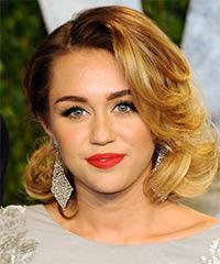 Miley Cyrus Medium Wavy Formal