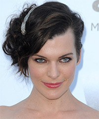 Milla Jovovich - Updo Medium Curly