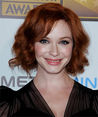 Christina Hendricks - Updo Long Wedding