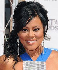 Lela Rochon - Half Up Long Curly