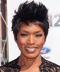 Angela Bassett Short Straight Casual Pixie