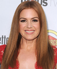 Isla Fisher Long Straight Casual