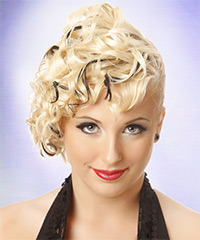Updo Medium Curly