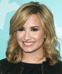 Demi Lovato Medium Wavy Formal