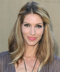 Dawn Olivieri Half Up Long Straight Casual