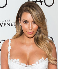 Kim Kardashian Long Straight Formal Hairstyle
