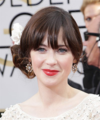 Zooey Deschanel - Updo Long Curly