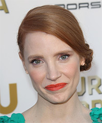 Jessica Chastain  Updo Long Straight Formal Wedding