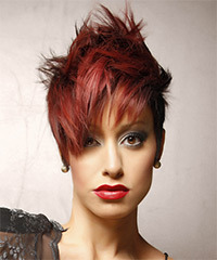 Short Straight Two-toned Spiked Hairstyle