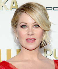 Christina Applegate Updo Long Straight Formal Wedding