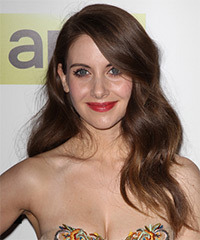 Alison Brie Long Wavy Formal
