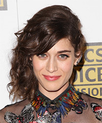 Lizzy Caplan - Long Curly