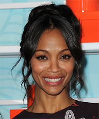 Zoe Saldana - Updo Long Curly