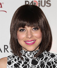 Krysta Rodriguez Medium Straight Formal Bob