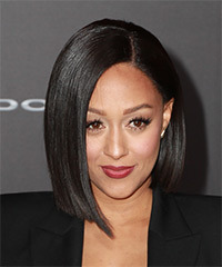 Tia Mowry Medium Straight Hairstyle