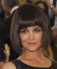 Katie Holmes Medium Straight Bob Hairstyle