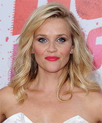 Reese Witherspoon Long Wavy Casual Hairstyle