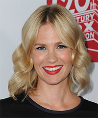 January Jones Medium Wavy Formal