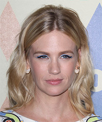 January Jones Medium Wavy Casual