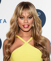 Laverne Cox Long Wavy Formal