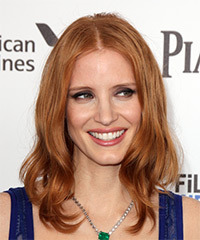 Jessica Chastain Long Straight Hairstyle