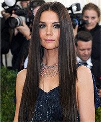 Katie Holmes Long And Sleek Straight Hairstyle