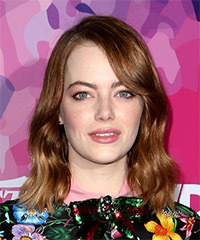 Emma Stone Medium Wavy Casual Bob