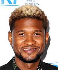 Usher Short Curly Casual