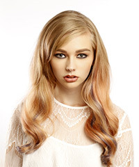 Long Silky Wavy Formal Hairstyle
