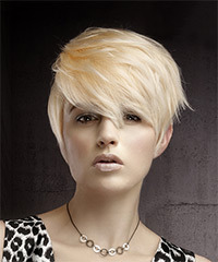 Straight Layered Jagged Cut Pixie