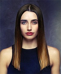 Long Straight Blunt Cut Hairstyle