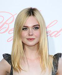 Elle Fanning Long Straight Casual