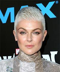 Serinda Swan Short Straight Formal Pixie with Layered Bangs - Light Blonde (Platinum)