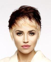 Short Straight Alternative Pixie with Asymmetrical Bangs - Light Blonde