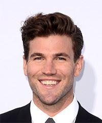Austin Stowell Short Straight Casual  - Medium Brunette