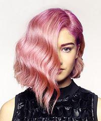 Short Wavy Alternative Bob - Pink