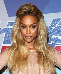 Tyra Banks Long Wavy Casual