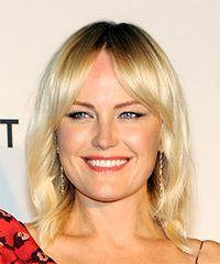 Malin Akerman Medium Straight Casual  with Layered Bangs - Light Blonde