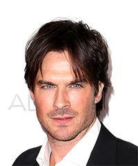Ian Somerhalder Short Straight Casual  - Dark Brunette