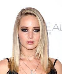 Jennifer Lawrence Medium Straight Casual  - Light Blonde